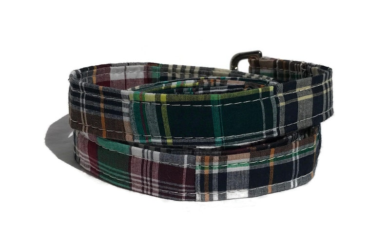 Dog Leash in Madras Patchwork Plaid  The Varsity Club image 0