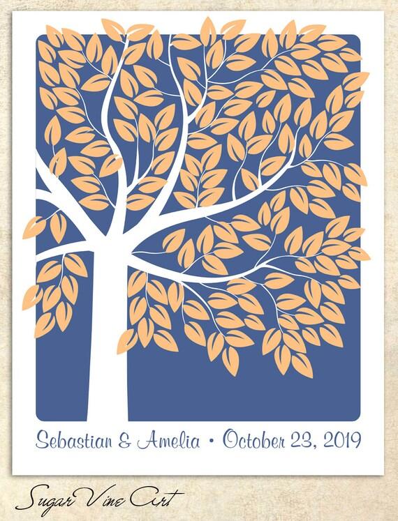 An Interactive Art Print Sugar Vine Art SIGNATURE GUEST TREE Unique Wedding Guest Book 183 guest sign in 20x30 num.125