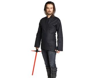 Sith Lord Kylo Ren Costume Tunic Shirt Adult  Men's Black