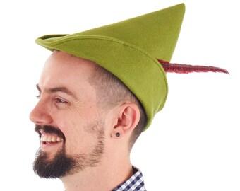 7f2a0561030 Men s Oktoberfest Peter Pan Robin Hood Green Costume Hat