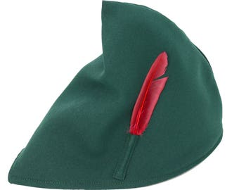 515930af53d91 Peter Pan Elf Green Costume Hat with Feather