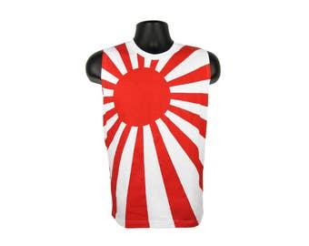 Men's 80's Japanese Flag Rising Sun Tank Top Shirt