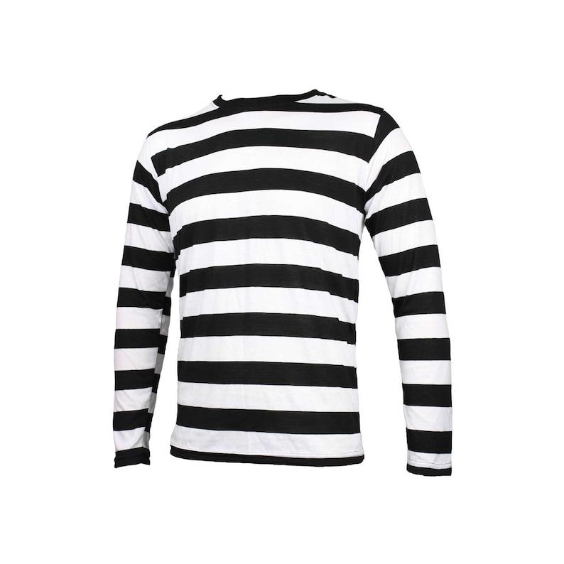 475b467e7f8 Men s Long Sleeve Black   White Striped Shirt