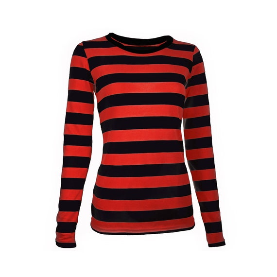 red and black long sleeve shirt