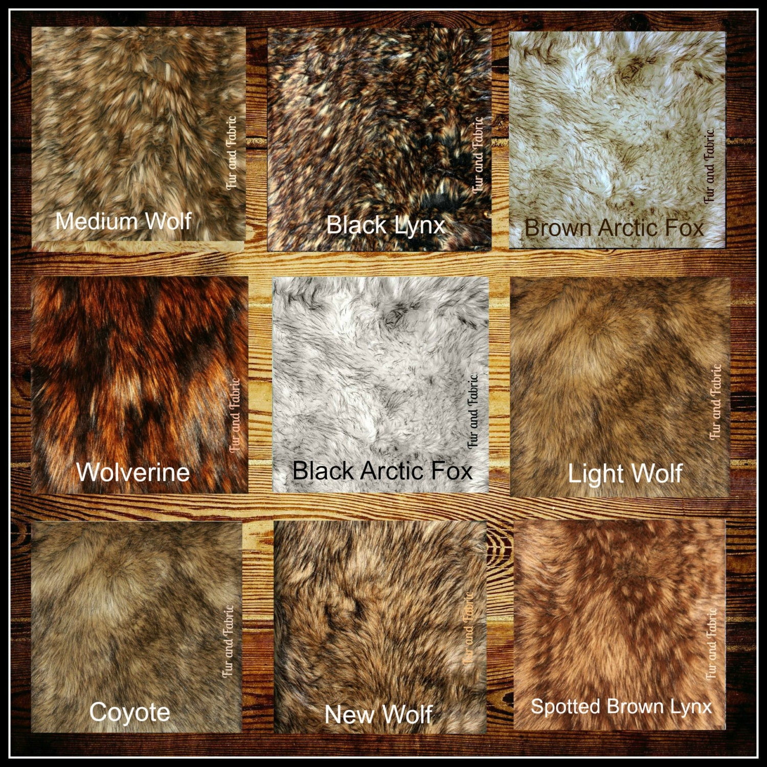 Faux Fur Swatch Sample Cutting Rug Color Match You Choose