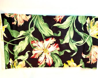 Vintage PARROT TULIPS by Schumacher  - Fabric PANELS