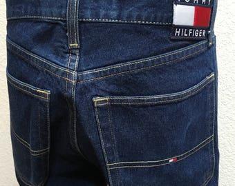 Tommy Hilfiger Jeans Flag Logo Highwaisted Tommy 32x30 Baggy Loose Fit Vintage RSW8N