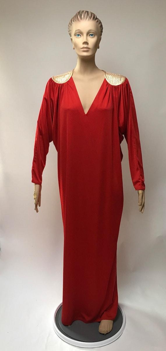 Red Gown Bill Tice Kimono Dress