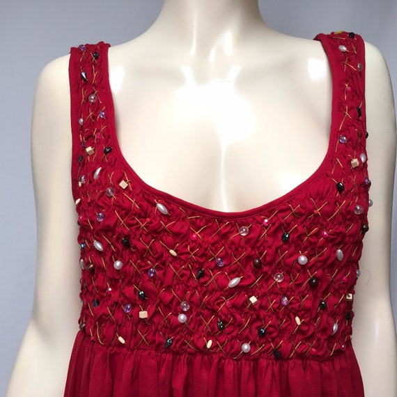 Victorias Secret Gown Beaded Smocked Lingerie