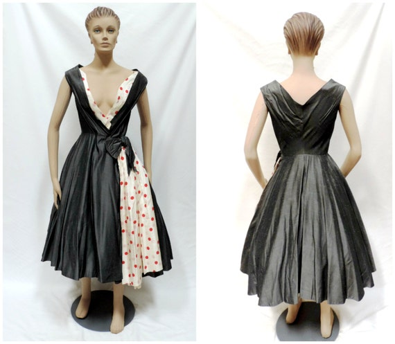 1950s New Look Swing Wrap Dress