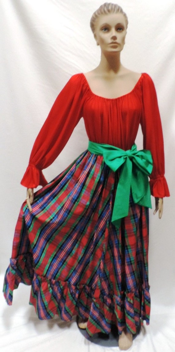 Lucie Ann Beverly Hills Dress Holiday Hostess Gow… - image 1