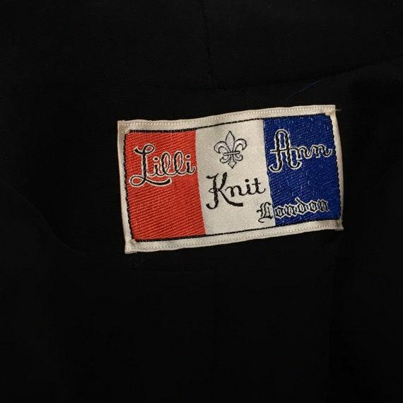 1950 Lilli Ann Knit Skirt Suit Black - image 9