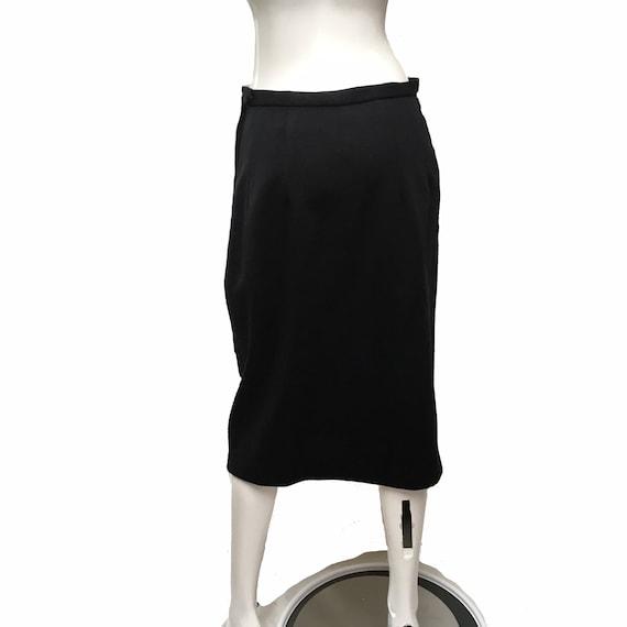 1950 Lilli Ann Knit Skirt Suit Black - image 5