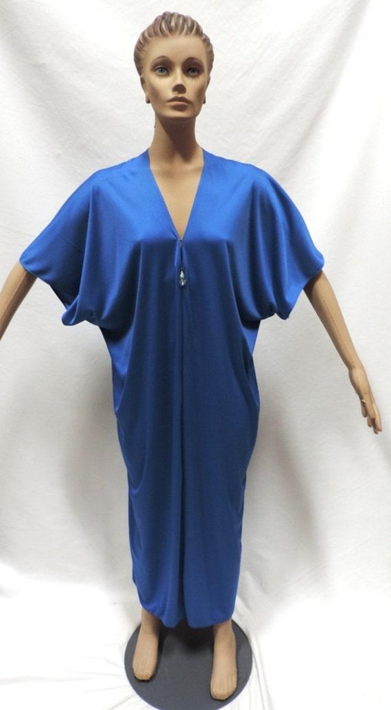 Lucie Ann Caftan Grecian Royal Blue Nylon Pool Cov
