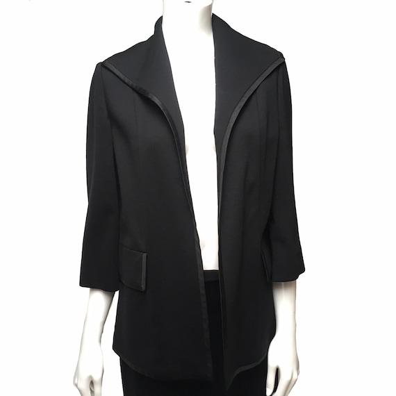 1950 Lilli Ann Knit Skirt Suit Black - image 6