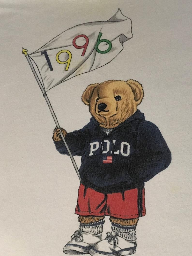 dc3452245 Ralph Lauren 1996 Olympics Polo Bear T Shirt Hip Hop | Etsy