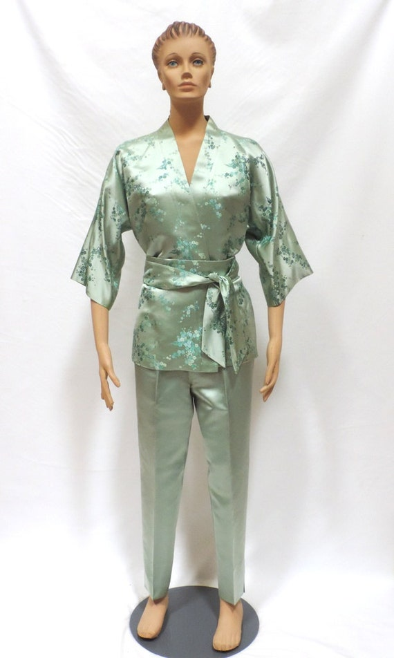 Kimono Pant Suit Dynasty High Waist Cigarette Pant
