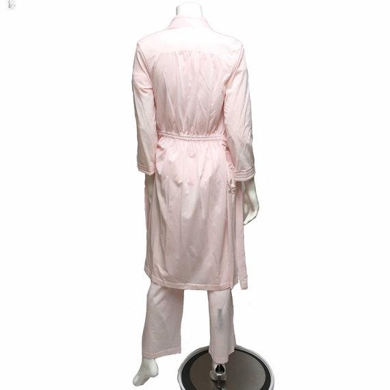 Pink Pajamas and Robe Henson Kickernick Nylon Lou… - image 3