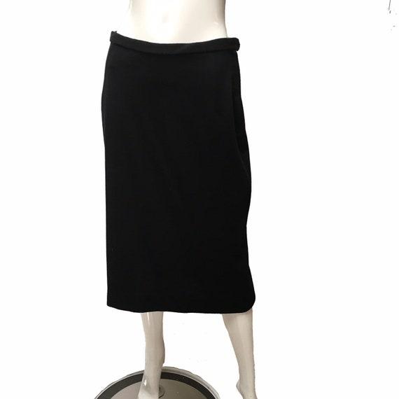 1950 Lilli Ann Knit Skirt Suit Black - image 4