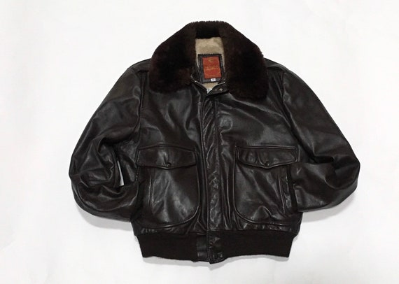 Sherman Leather Bomber Jacket