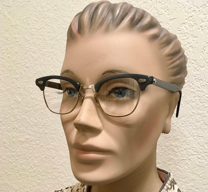 9a7b5f3b0a Clubmaster Browline 12k gf Eyeglasses Cateye Tri Zyl Gold