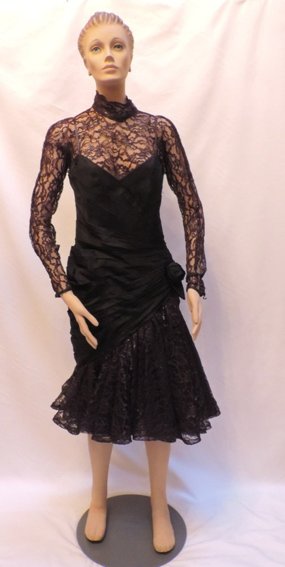 Lillie Rubin Dress Black Lace