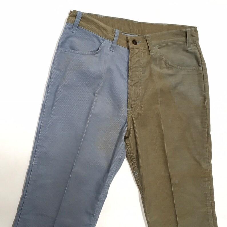 bad259e9 Levis Corduroy Pants Bell Bottom 2 Color Blue Jeans High | Etsy