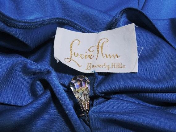 Lucie Ann Caftan Grecian Loungewear Royal Blue Ny… - image 5