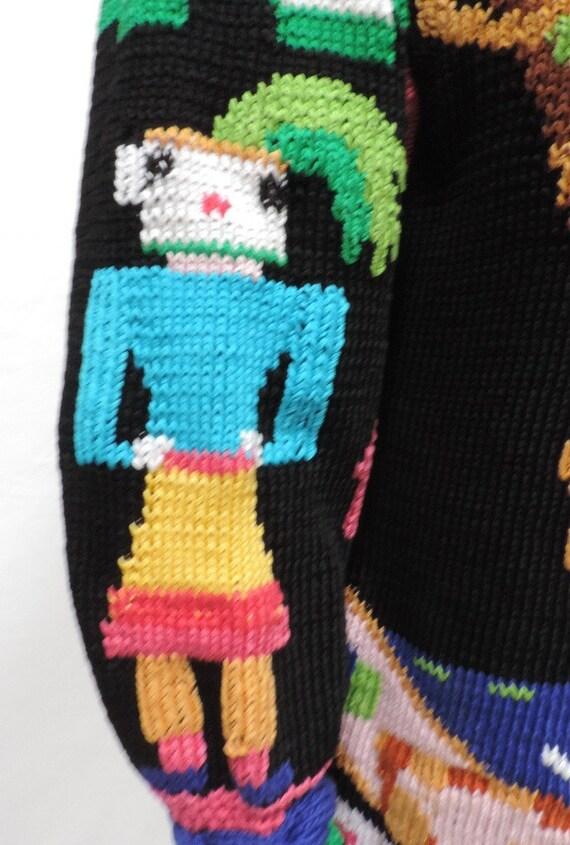 625b0bd7a4ba9 Items similar to 1989 BEREK Marta D Sweater Hand Knit Oversize Robot Pima  Pullover Art-to-Wear Size Medium on Etsy