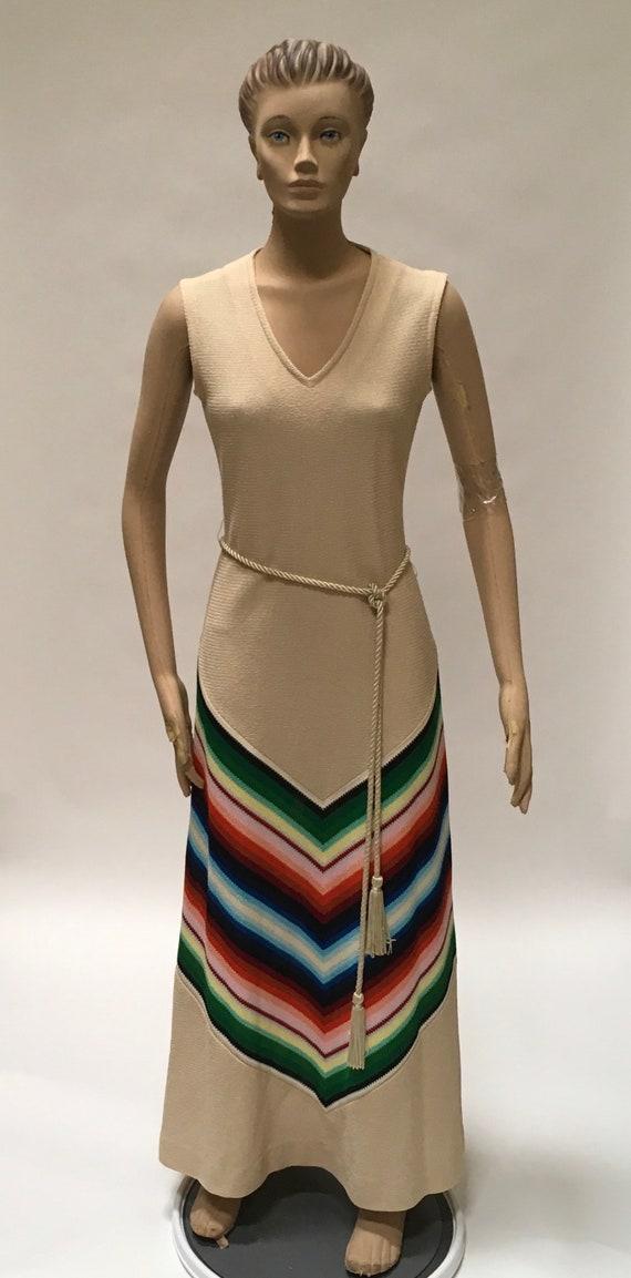 Fred Rothschild Boho Maxi Dress Chevron Stripe