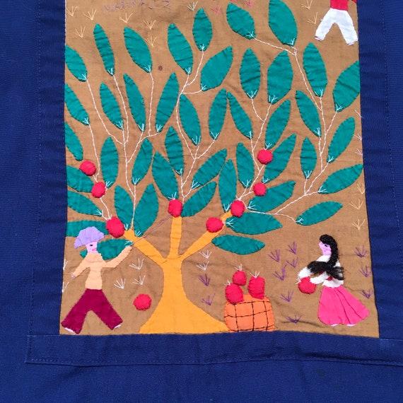 Folk Art Appliqué Maxi Dress Santa Fe