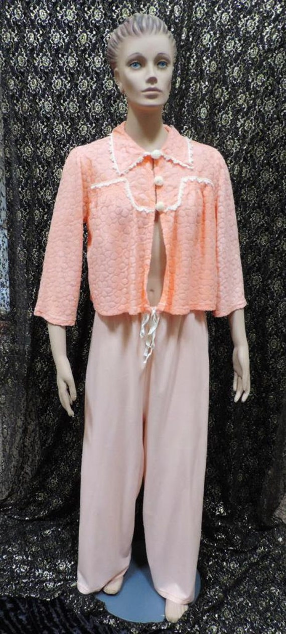 1940s Pajamas Wide Leg Drawstring Pants New