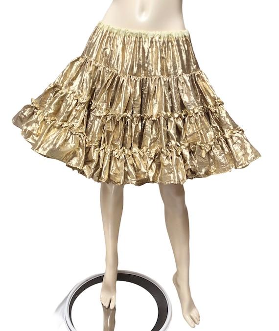 Square Dance Petticoat Metallic Gold