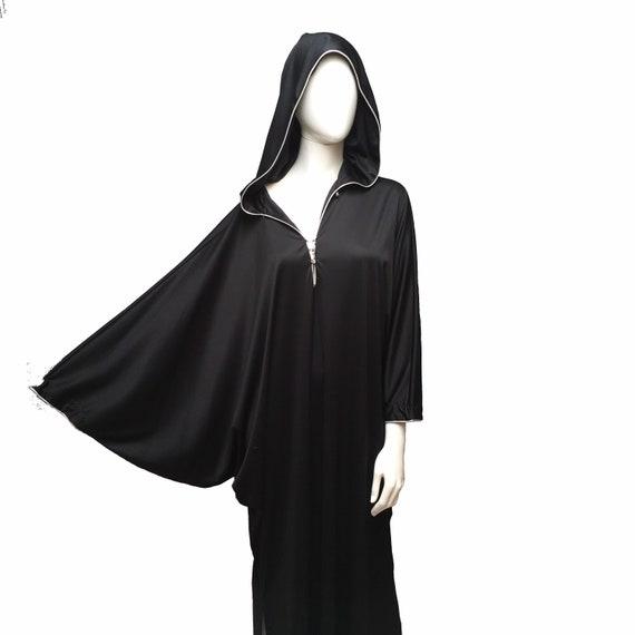 David Brown Hooded Caftan Dress