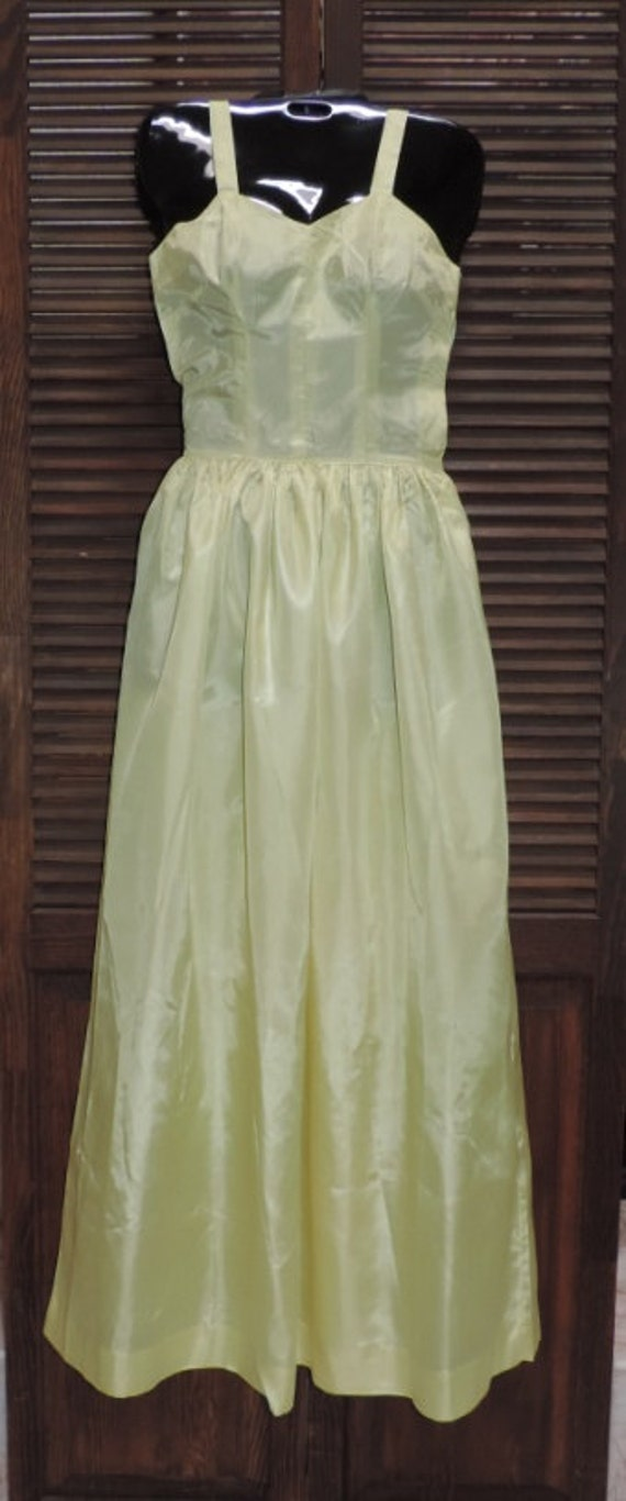 1930s Dress Pale Green Organza Fairy Kei Dress Un… - image 4