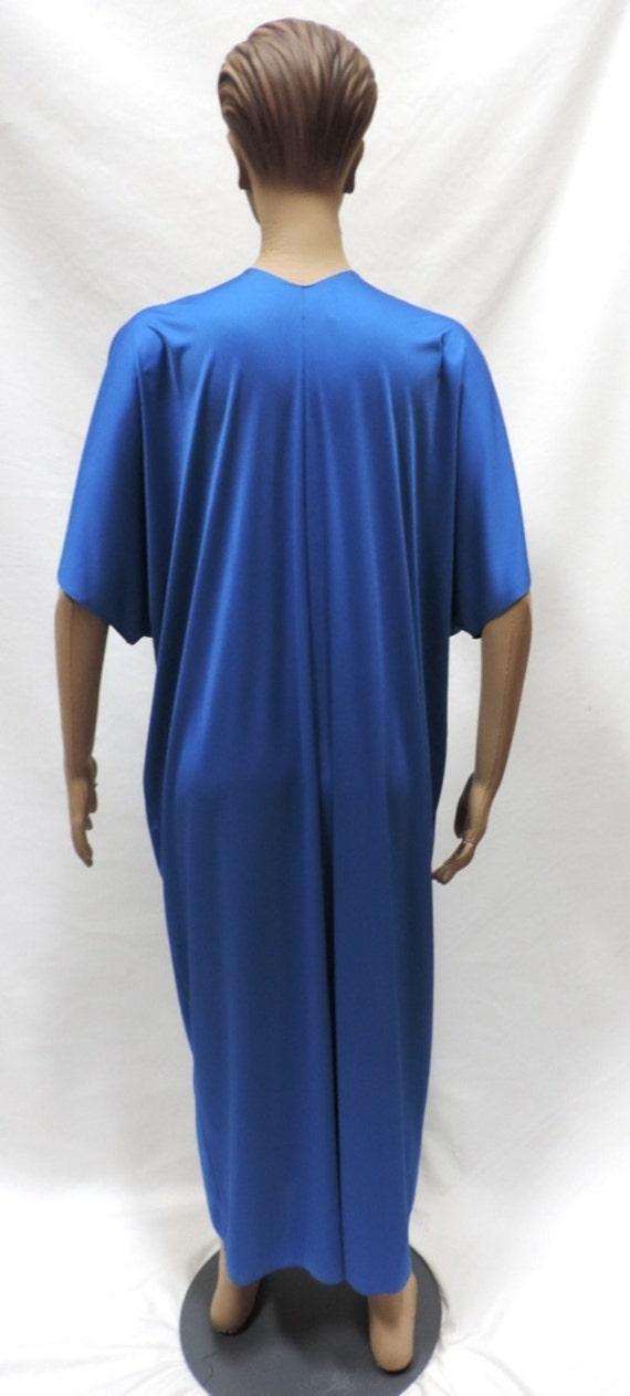 Lucie Ann Caftan Grecian Loungewear Royal Blue Ny… - image 2