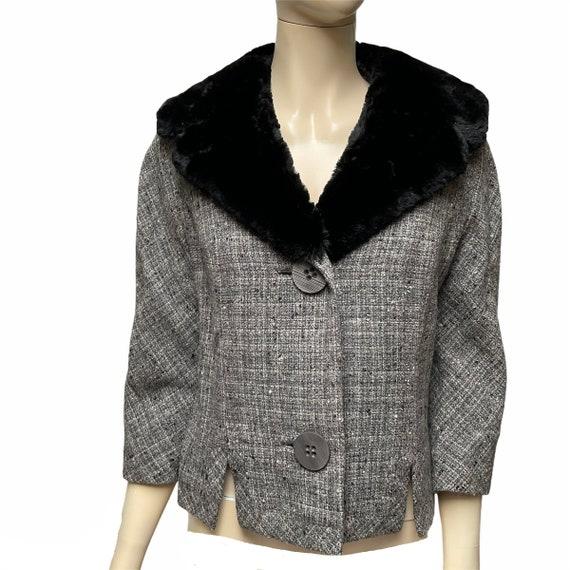Tweed Fur Blazer Marisa California