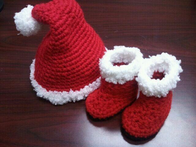 SANTA or ELF Hat & Boots Crochet PATTERN / Scrooge Hat Pattern / Elf ...