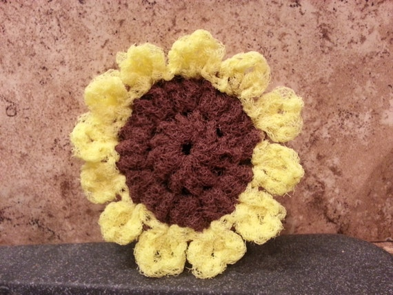 Sunflower Scrubbie Pattern Double Thickness Sunflower Etsy