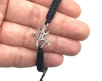 Lizard Bracelet Gecko Bracelet Reptile Bracelet Jewelry Friendship Bracelet Adjustable Bracelet Lizard Enthusiast Friend Gift