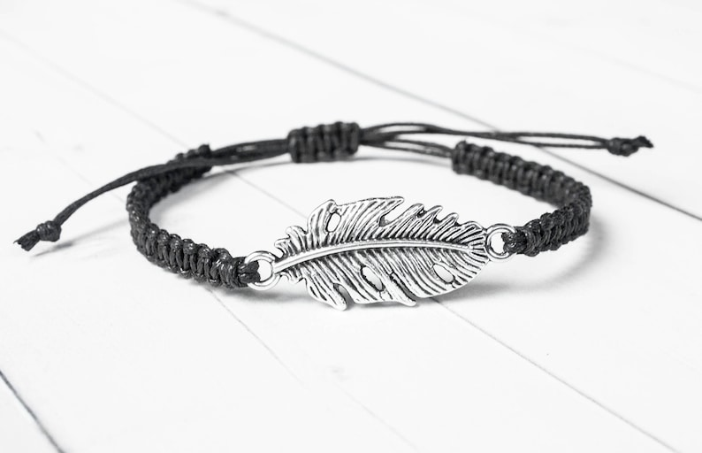 Feather Bracelet  Silver Tone  Unique gift for Women image 0