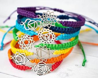 Chakra Bracelet Spiritual Jewelry Root Chakra, Sacral Chakra, Solar Plexus Chakra, Heart Chakra, Throat Chakra Third Eye Chakra Crown Chakra