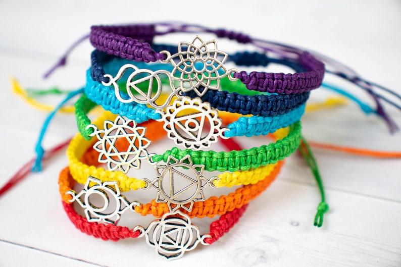 Chakra Bracelet Spiritual Jewelry Root Chakra Sacral Chakra image 0
