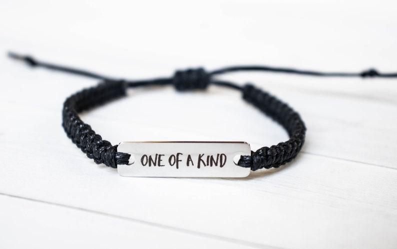 One of a Kind Bracelet Inspiration Gift Motivation Bracelet image 0
