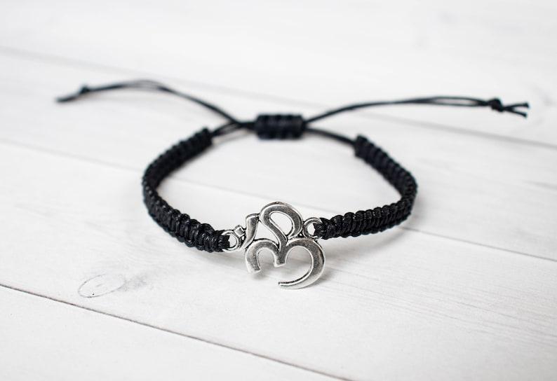Large Ohm Bracelet Yoga Bracelet Yoga Jewelry Om Charm image 0