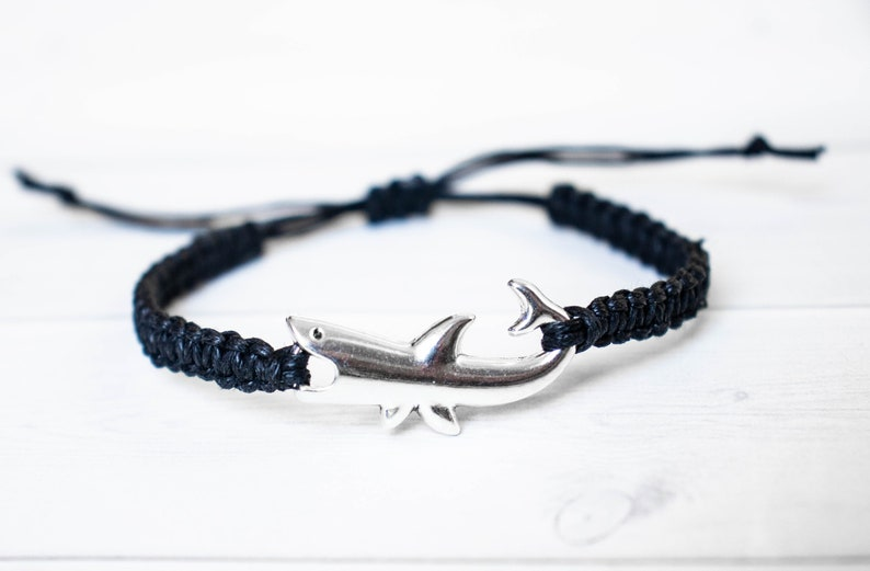 Shark Bracelet Fish Jewelry Friendship Bracelet Nautical image 0