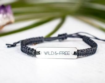 Wild & Free Bracelet, Love Jewelry, Inspiration Gift, Unique gift for Women, Self Love, Gift for Friend, Boho Bracelet, Bohemian