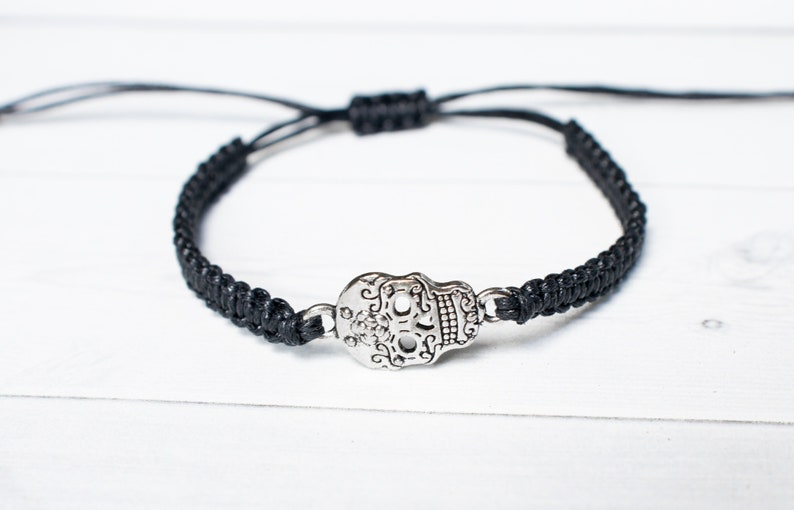 Sugar Skull Bracelet Day of the Dead Halloween Decor image 0