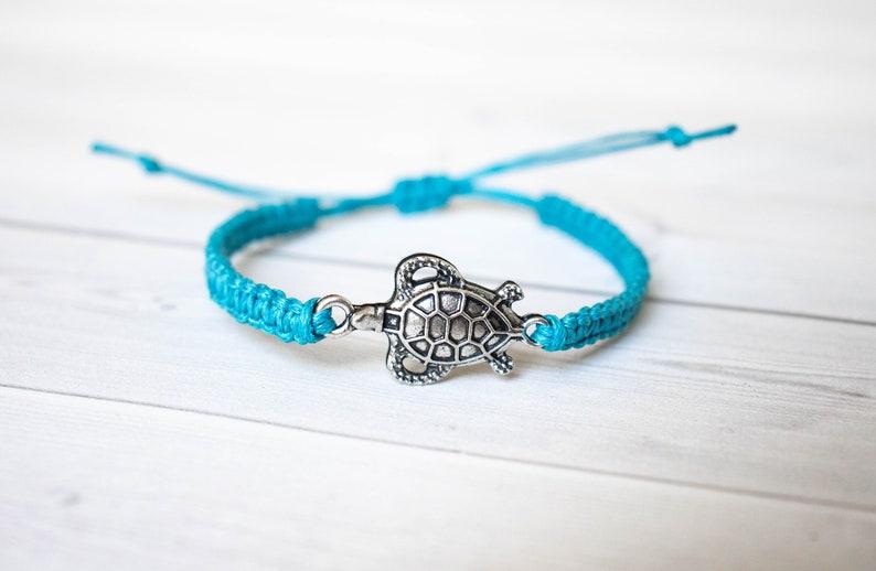 Turtle Bracelet Turtle Jewelry Animal Bracelet Wildlife image 0