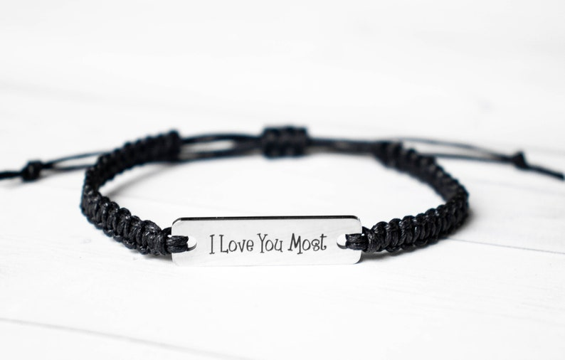 I Love You MOST Bracelet Valentines Day Gift  Love image 0